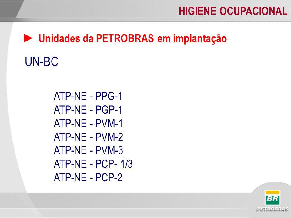 UN-BC ► Unidades da PETROBRAS em implantação ATP-NE - PPG-1