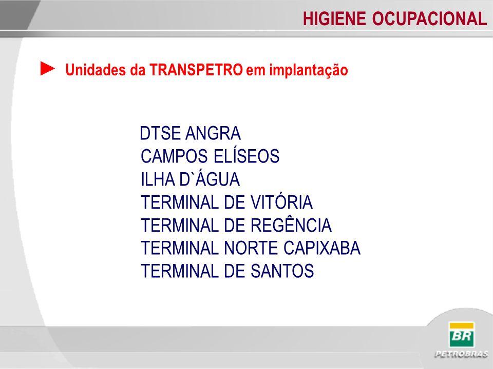► Unidades da TRANSPETRO em implantação