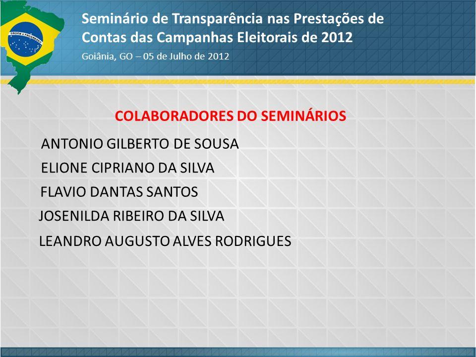 COLABORADORES DO SEMINÁRIOS