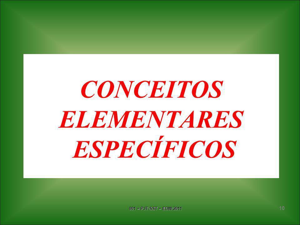 CONCEITOS ELEMENTARES ESPECÍFICOS