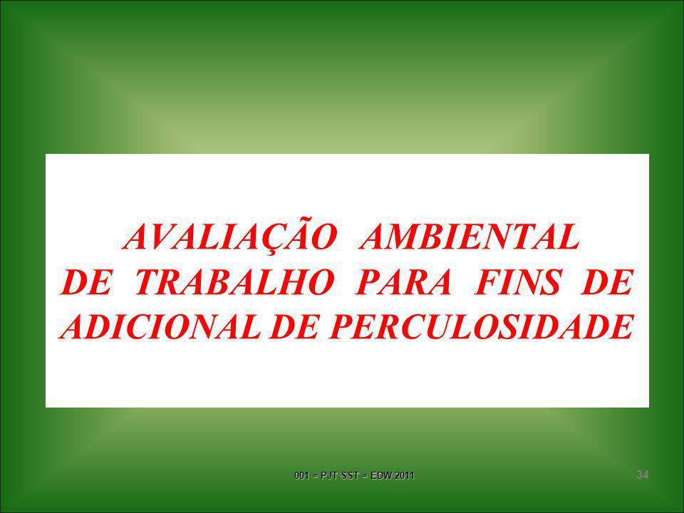 AVALIAÇÃO AMBIENTAL DE TRABALHO PARA FINS DE ADICIONAL DE PERCULOSIDADE