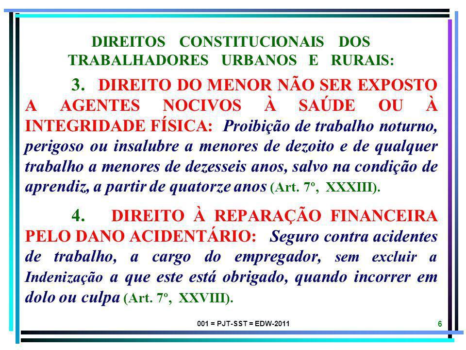 DIREITOS CONSTITUCIONAIS DOS TRABALHADORES URBANOS E RURAIS: