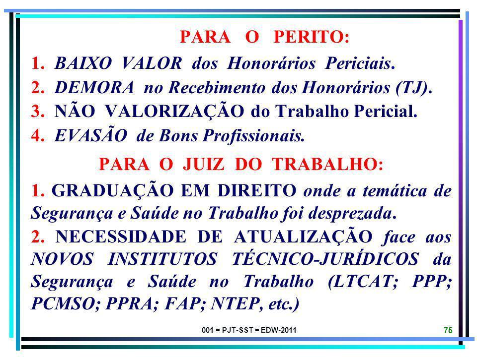 PARA O JUIZ DO TRABALHO: