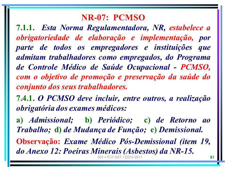 NR-07: PCMSO