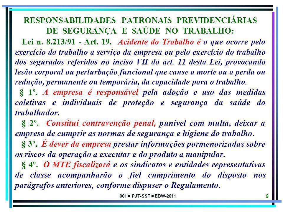 RESPONSABILIDADES PATRONAIS PREVIDENCIÁRIAS