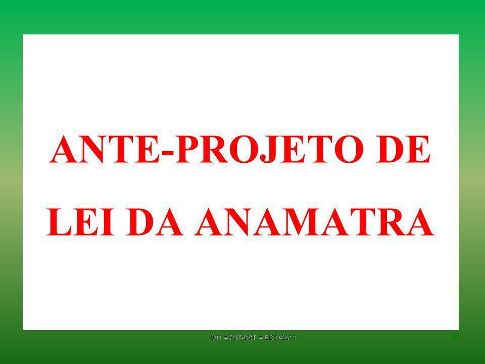 ANTE-PROJETO DE LEI DA ANAMATRA