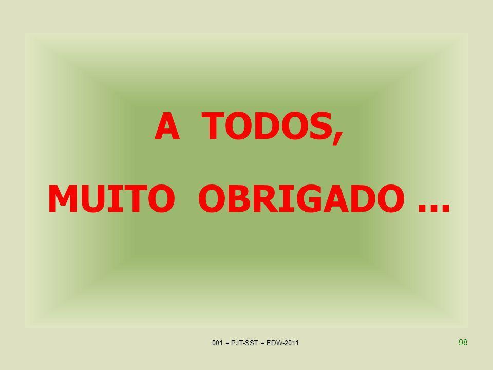 A TODOS, MUITO OBRIGADO ... AJPJT-SST = EDW-2009