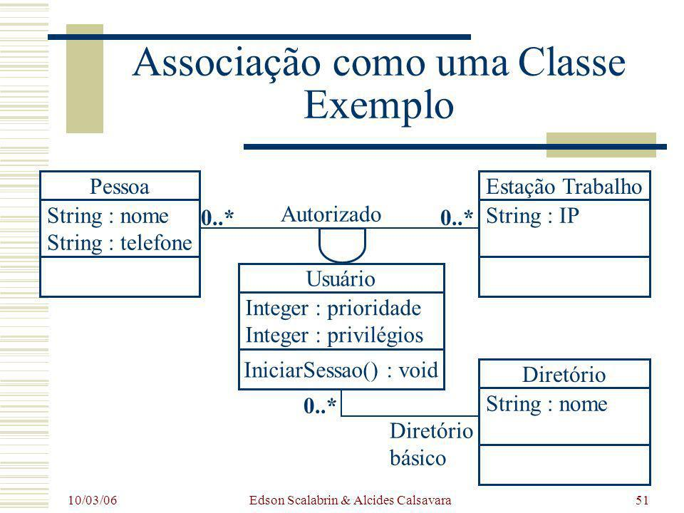 Associação como uma Classe Exemplo