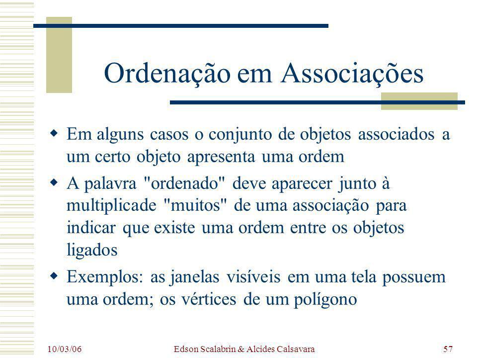 Ordenação em Associações