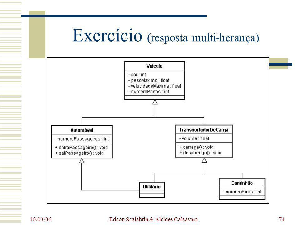 Exercício (resposta multi-herança)