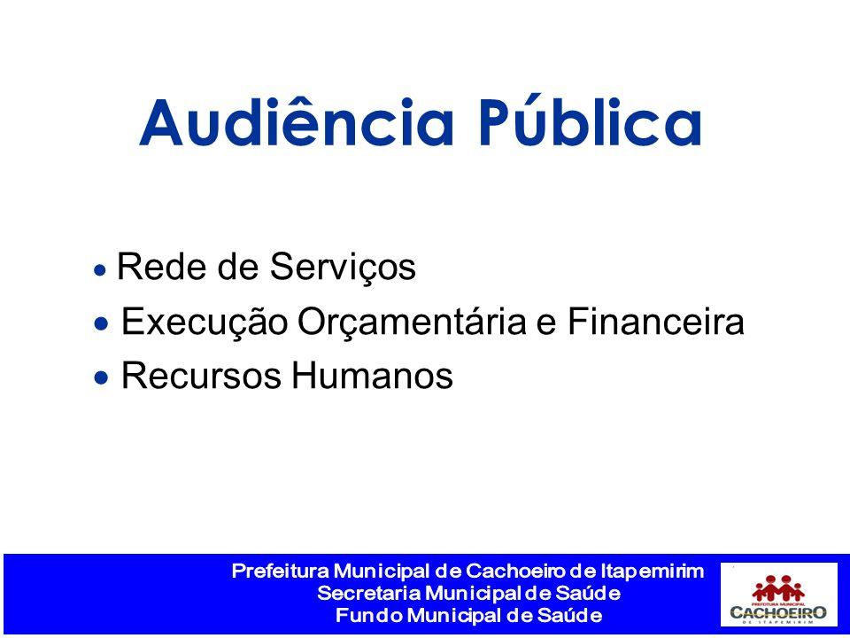 Audiência Pública Execução Orçamentária e Financeira Recursos Humanos