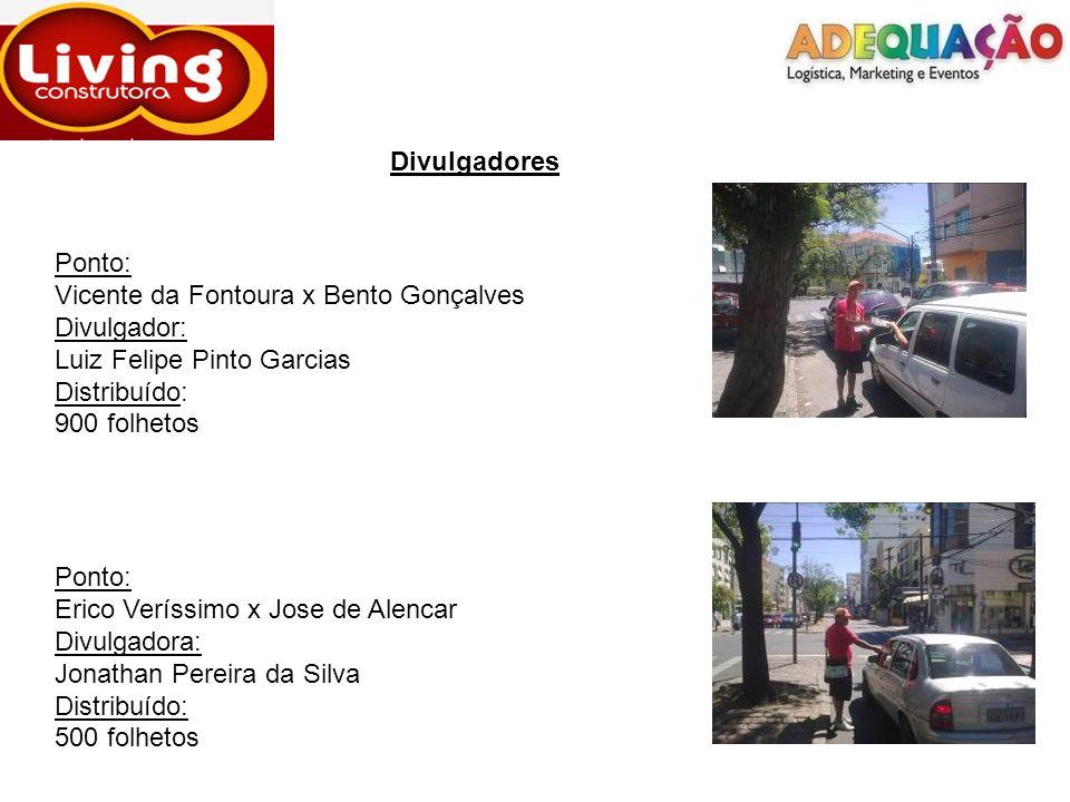 Divulgadores Ponto: Vicente da Fontoura x Bento Gonçalves. Divulgador: Luiz Felipe Pinto Garcias.
