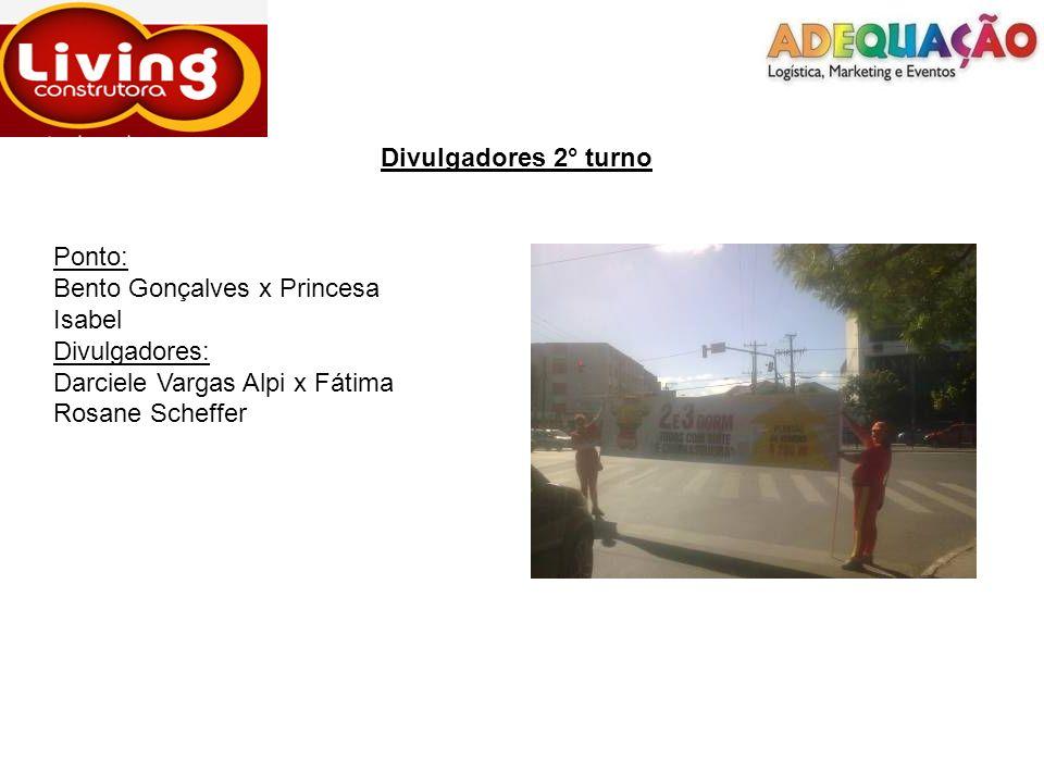 Divulgadores 2° turno Ponto: Bento Gonçalves x Princesa Isabel.