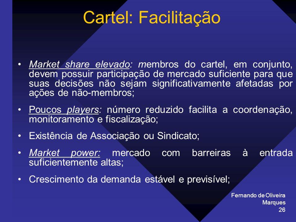 Cartel: Facilitação Fernando de Oliveira Marques.