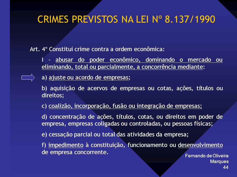 CRIMES PREVISTOS NA LEI Nº 8.137/1990