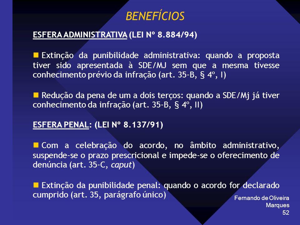 BENEFÍCIOS ESFERA ADMINISTRATIVA (LEI Nº 8.884/94)