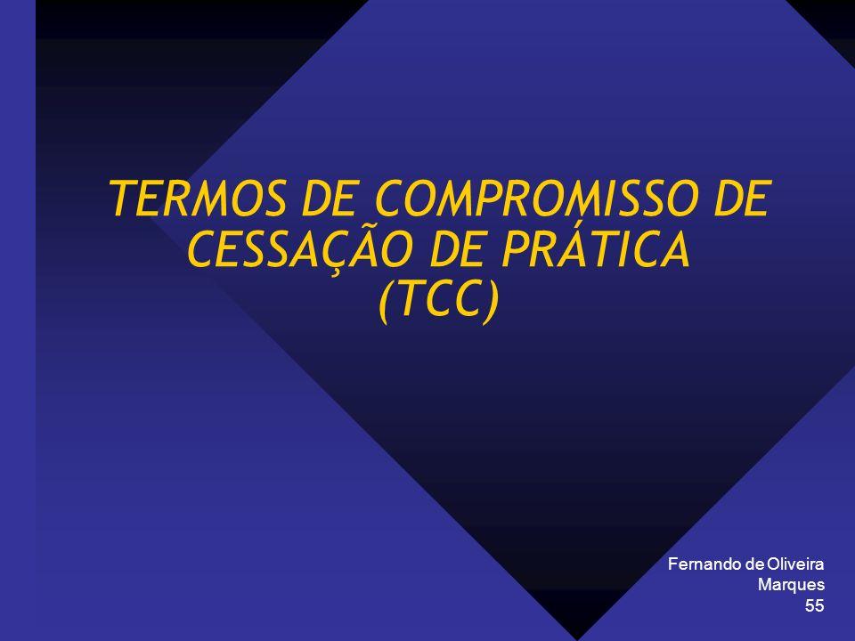 TERMOS DE COMPROMISSO DE CESSAÇÃO DE PRÁTICA (TCC)