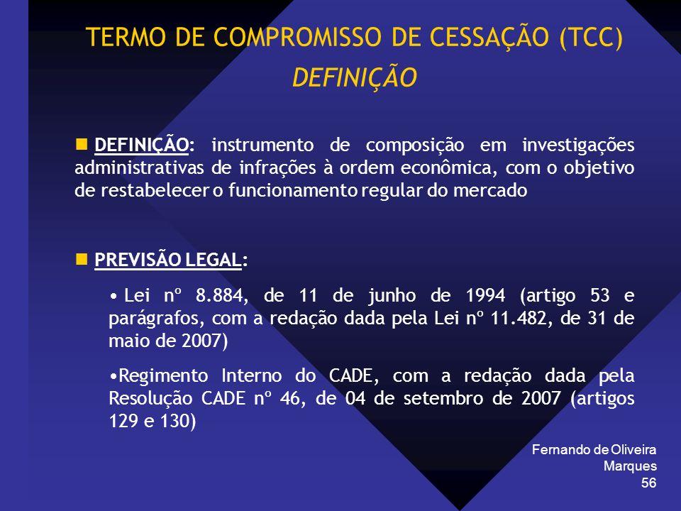 TERMO DE COMPROMISSO DE CESSAÇÃO (TCC)