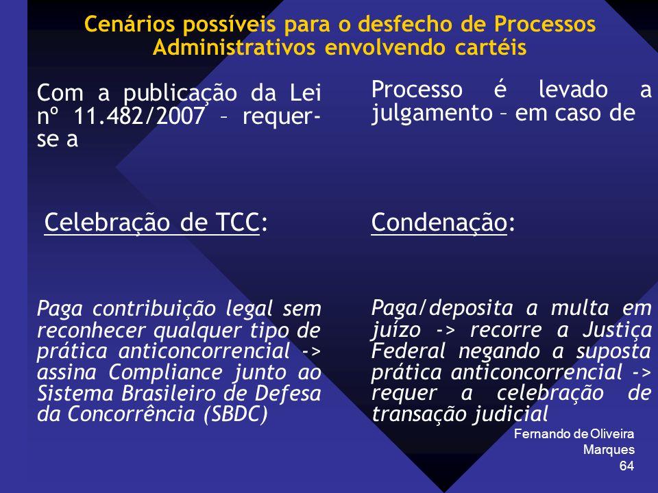 Celebração de TCC: Condenação: