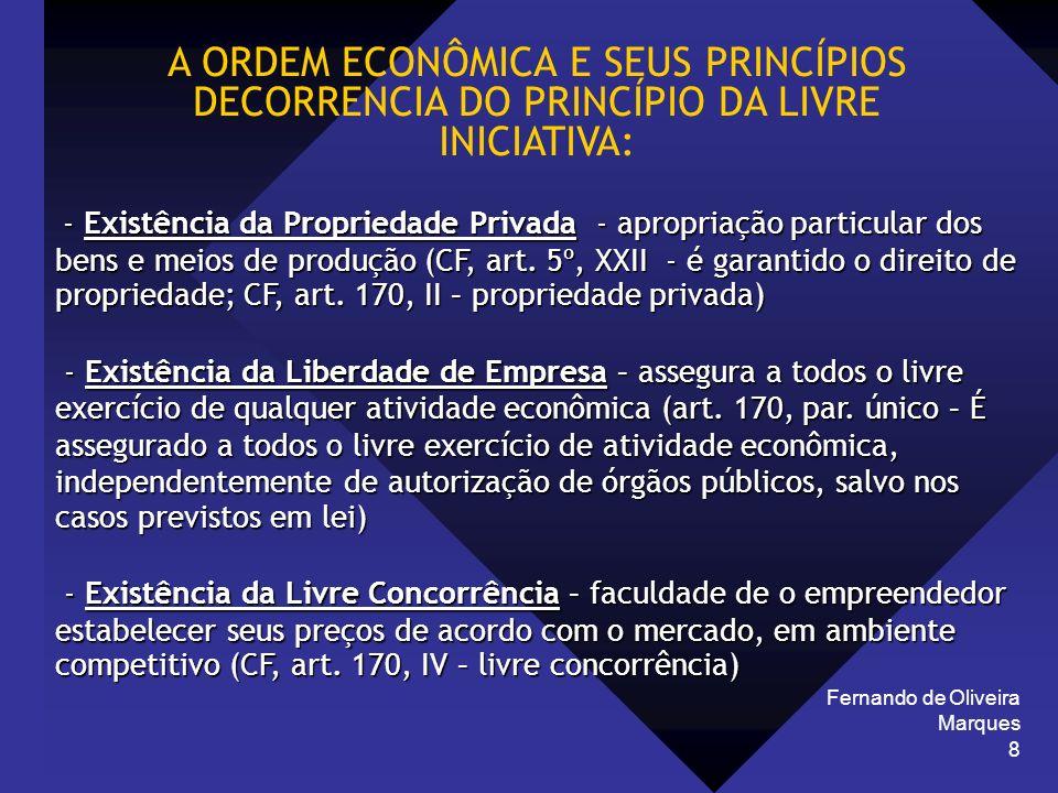 A ORDEM ECONÔMICA E SEUS PRINCÍPIOS