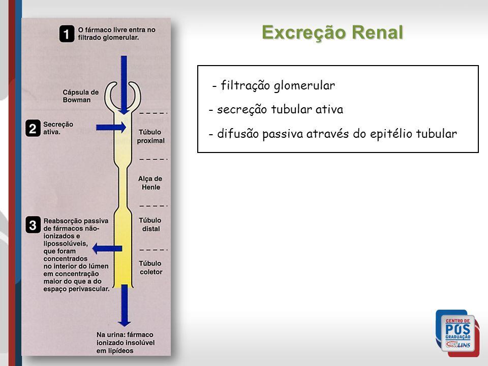 Excreção Renal - filtração glomerular secreção tubular ativa