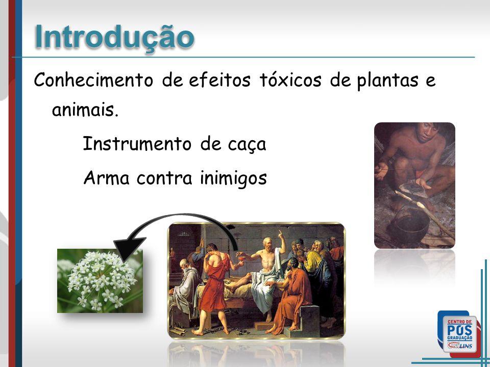 Introdução Conhecimento de efeitos tóxicos de plantas e animais.