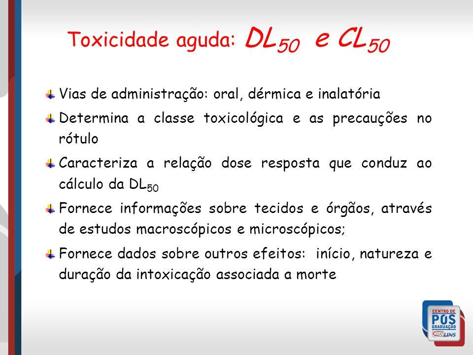 Toxicidade aguda: DL50 e CL50