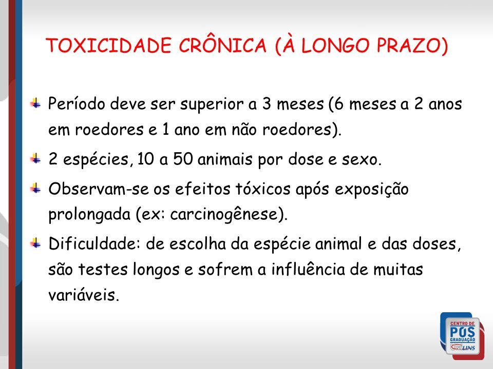 TOXICIDADE CRÔNICA (À LONGO PRAZO)