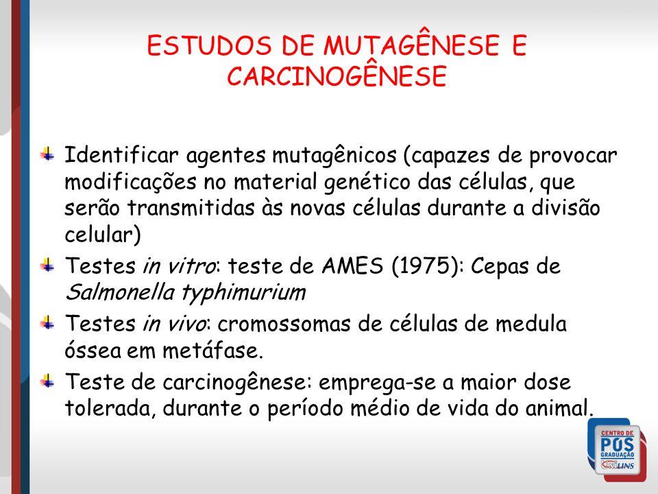 ESTUDOS DE MUTAGÊNESE E CARCINOGÊNESE