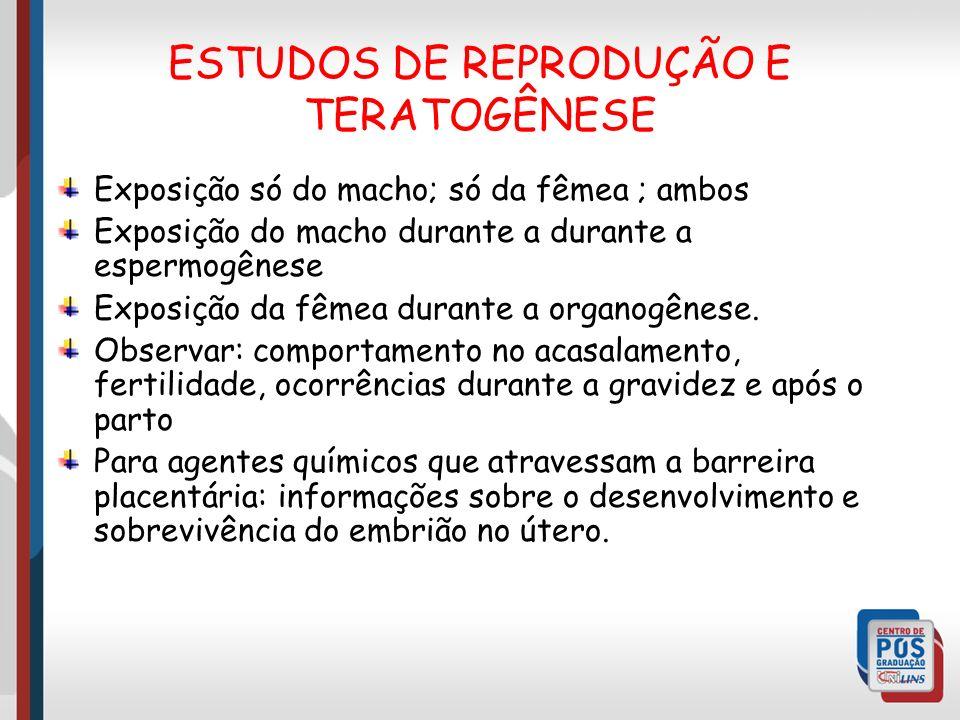 ESTUDOS DE REPRODUÇÃO E TERATOGÊNESE