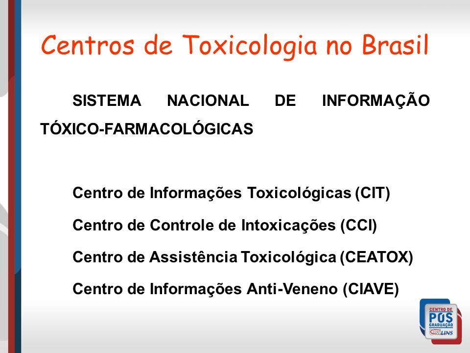 Centros de Toxicologia no Brasil