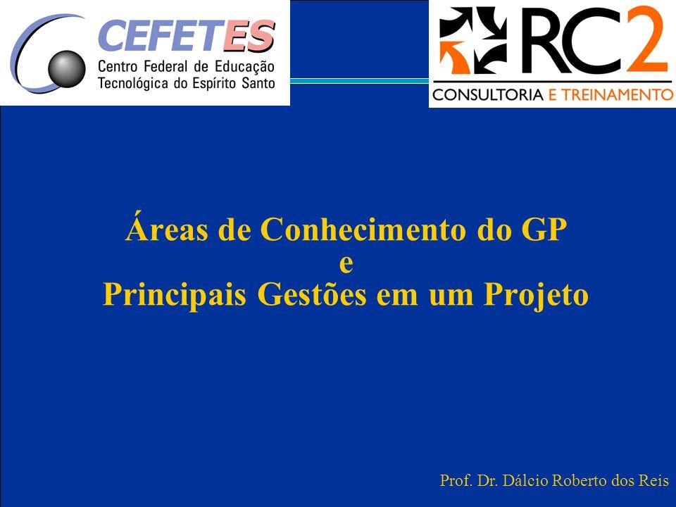 Áreas de Conhecimento do GP e Principais Gestões em um Projeto