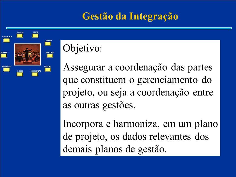 Gestão da Integração Objetivo: