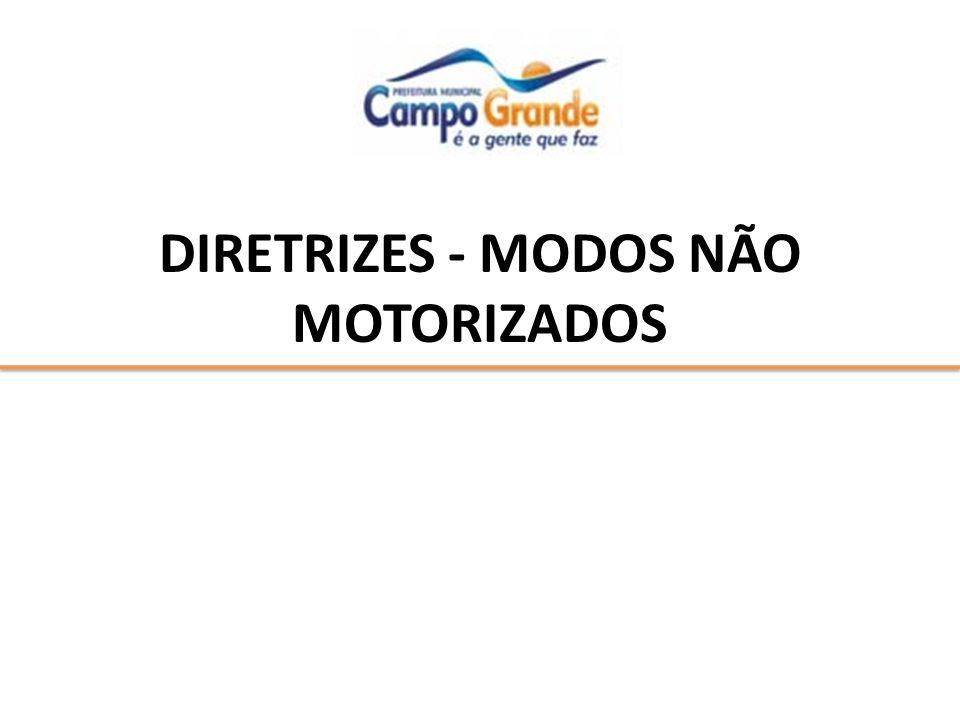 DIRETRIZES - MODOS NÃO MOTORIZADOS