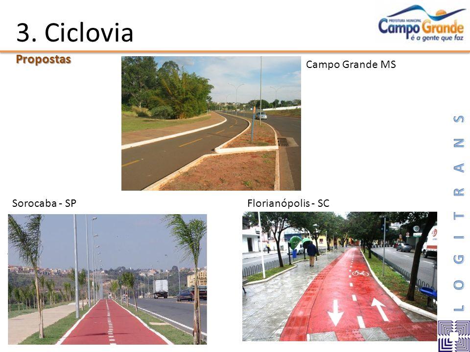 3. Ciclovia Propostas Campo Grande MS Sorocaba - SP Florianópolis - SC