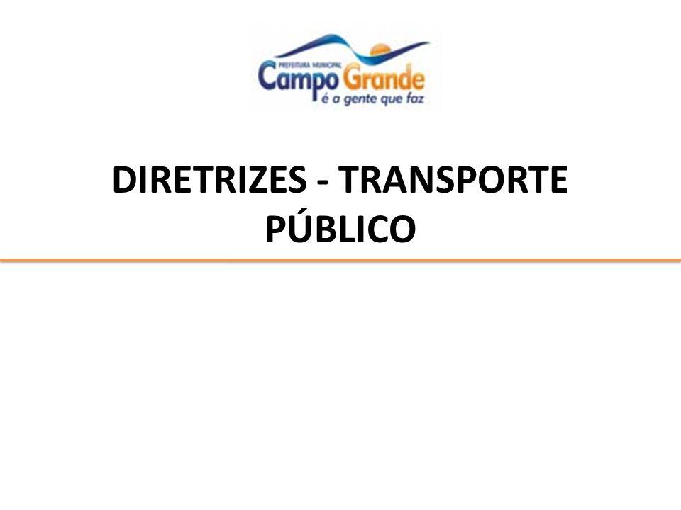 DIRETRIZES - TRANSPORTE PÚBLICO