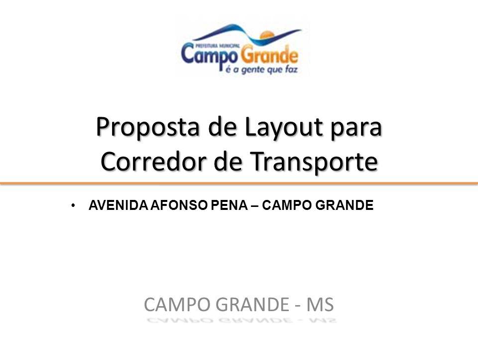 Proposta de Layout para Corredor de Transporte