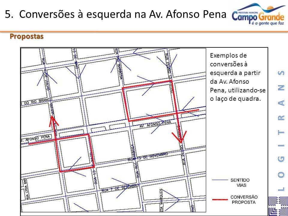 5. Conversões à esquerda na Av. Afonso Pena