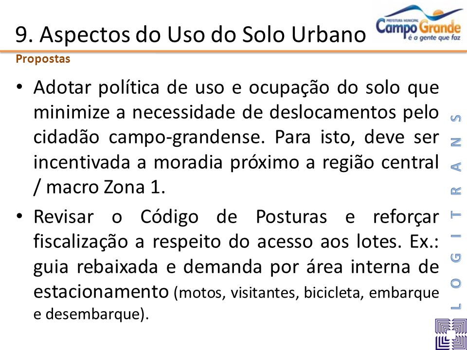 9. Aspectos do Uso do Solo Urbano