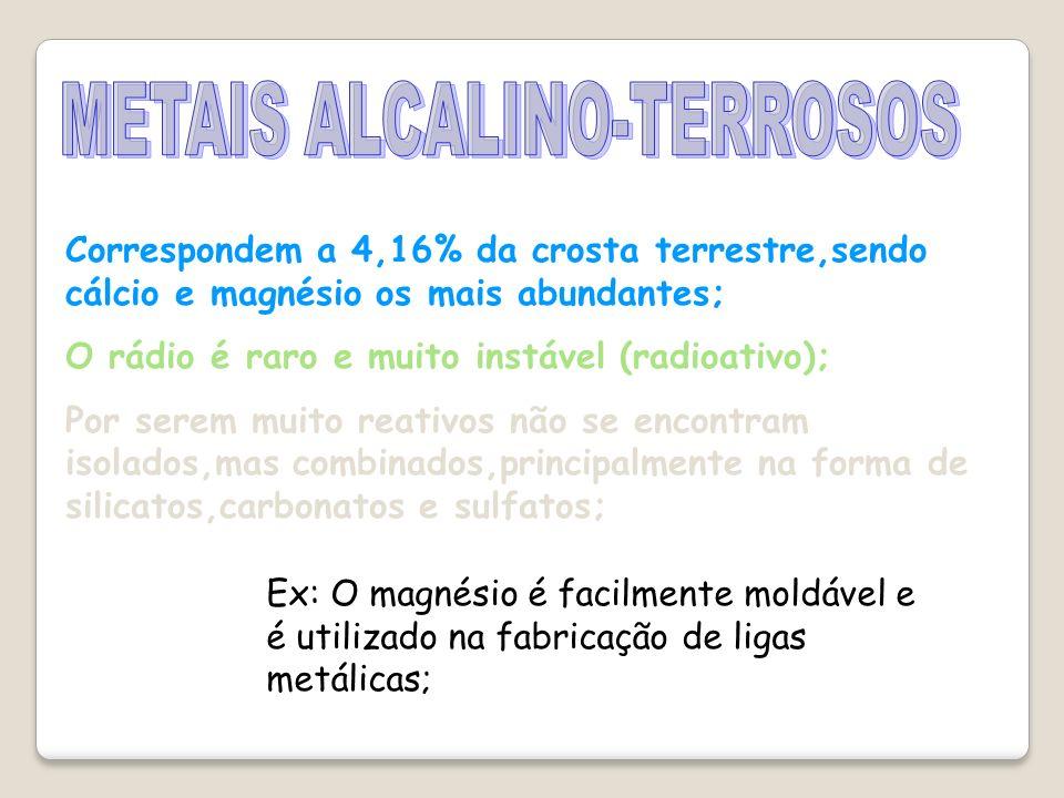 METAIS ALCALINO-TERROSOS