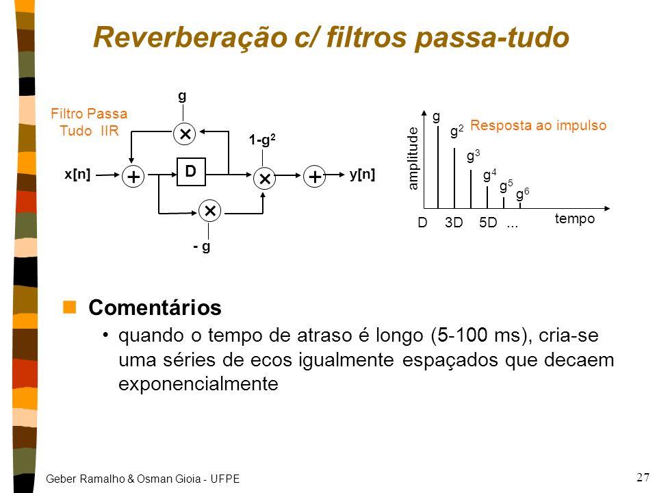 Reverberação c/ filtros passa-tudo