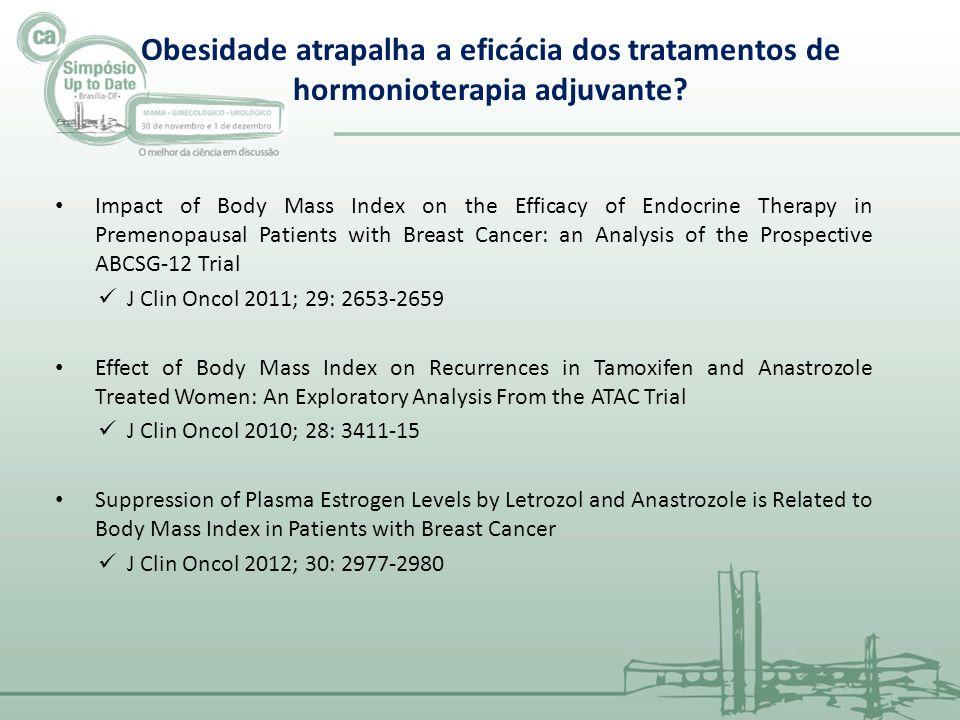 Obesidade atrapalha a eficácia dos tratamentos de hormonioterapia adjuvante
