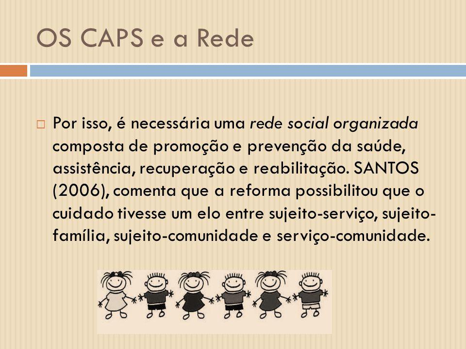 OS CAPS e a Rede