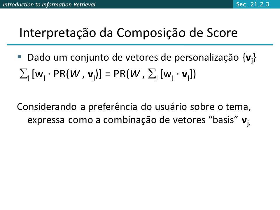Interpretação da Composição de Score
