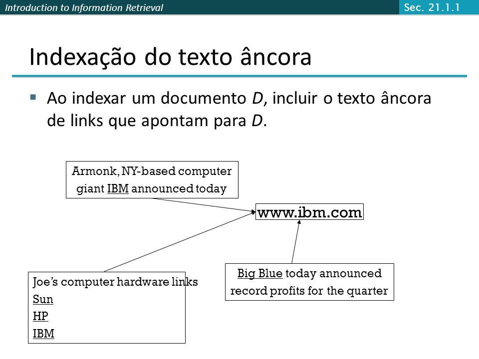 Indexação do texto âncora