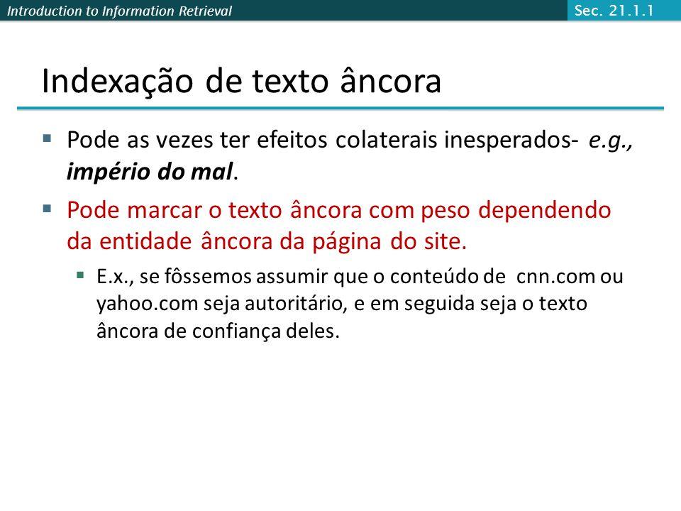 Indexação de texto âncora