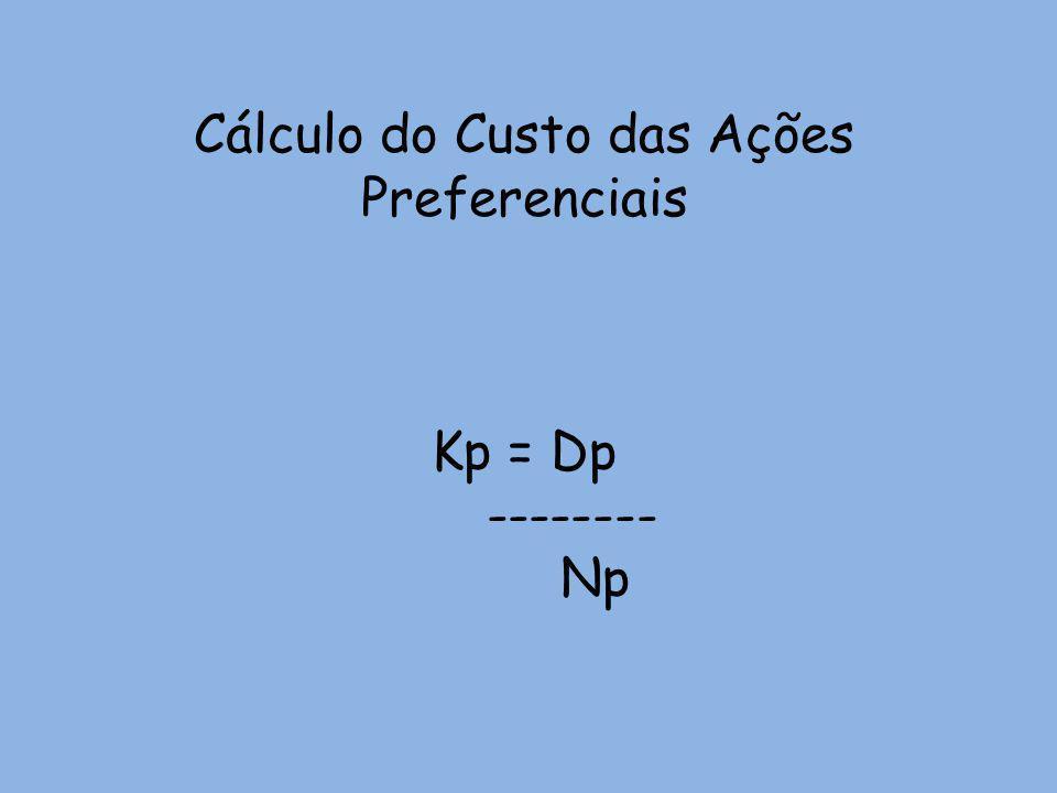 Cálculo do Custo das Ações Preferenciais