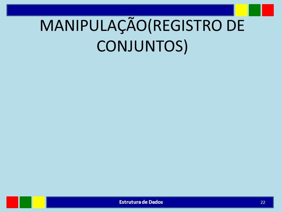 MANIPULAÇÃO(REGISTRO DE CONJUNTOS)