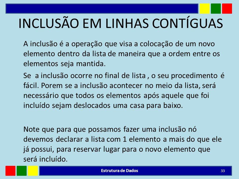 INCLUSÃO EM LINHAS CONTÍGUAS