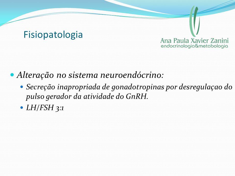 Fisiopatologia Alteração no sistema neuroendócrino: